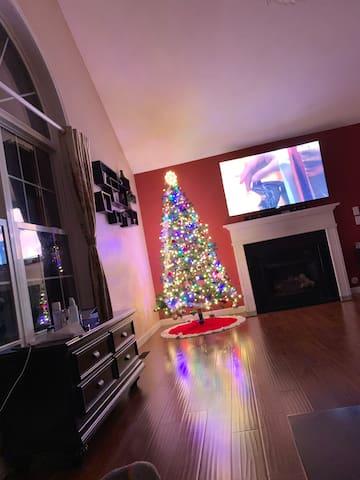 Large living room , surround sound movie