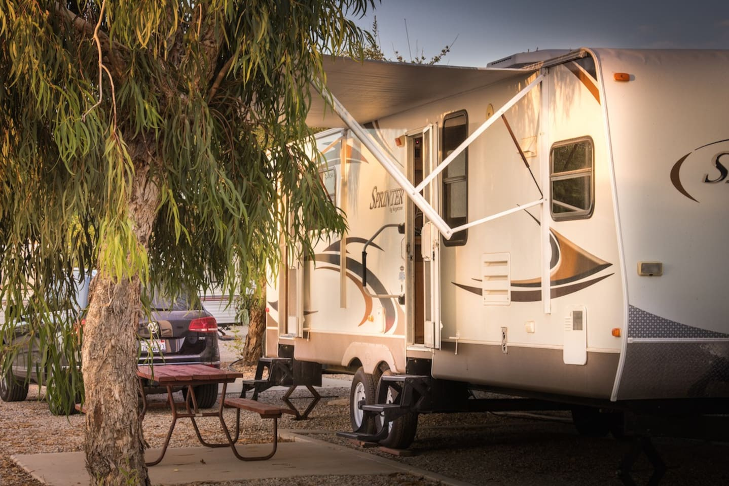 RV Rental Located in the Premium Section of the property closer to the river.