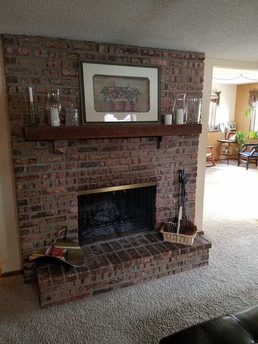 Fireplace in Lower Level Family Room
