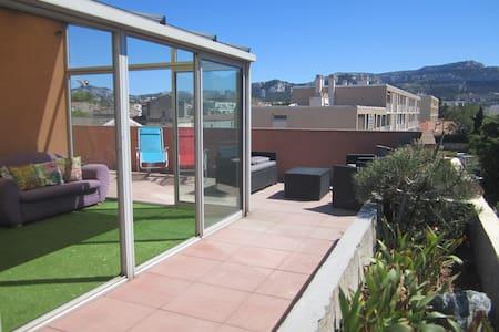 Chambre avec toit terrasse plages parc Borély 8ème - Marselha