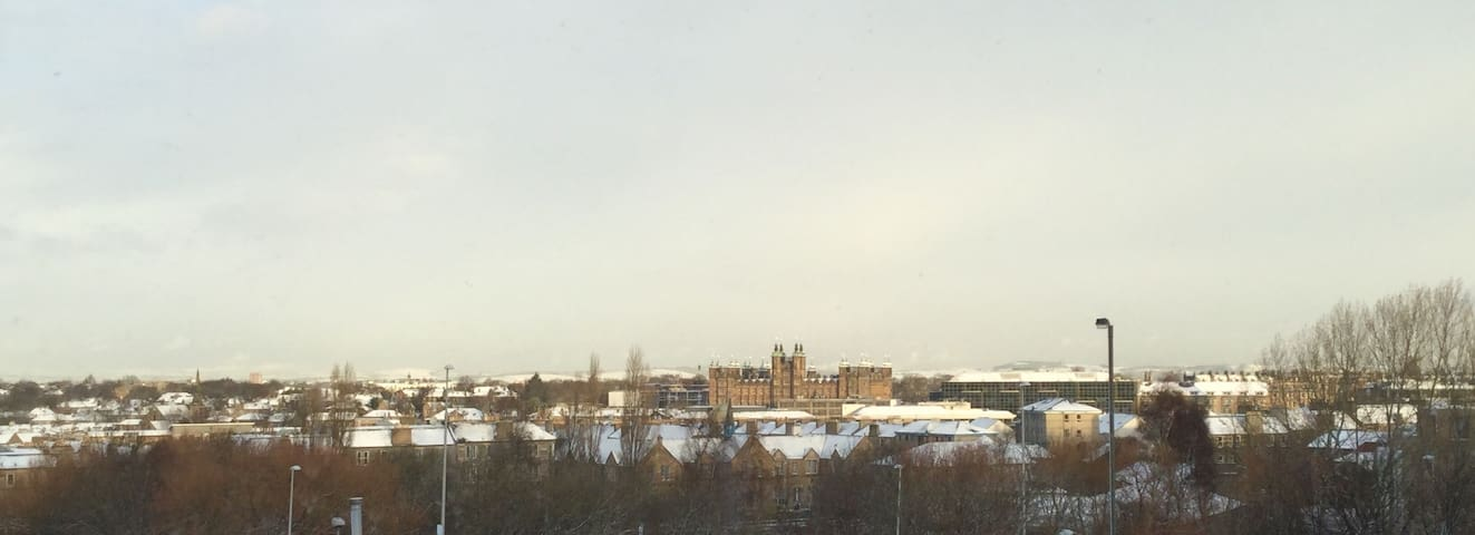 A fantastic view of the historic Donaldson College from the living room