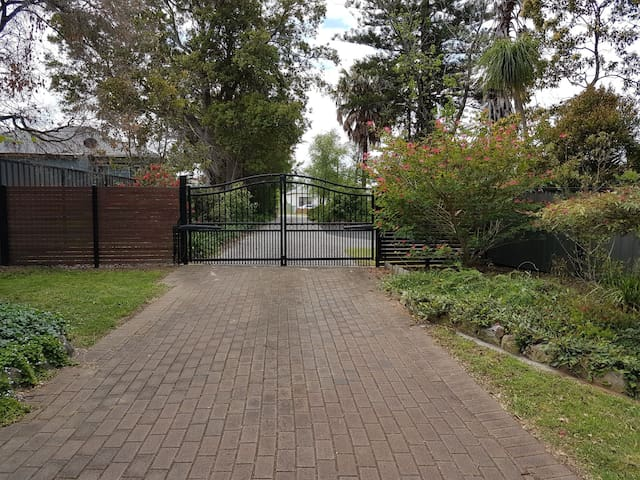 gated entrance to property. provides safe off street parking.