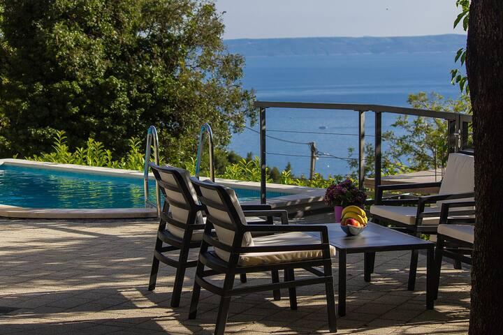 Holiday home Bastion w/ pool & sea view