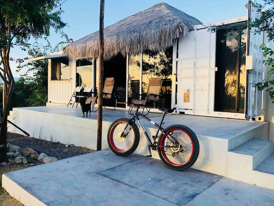 Two fat tire bikes available to roam the desert