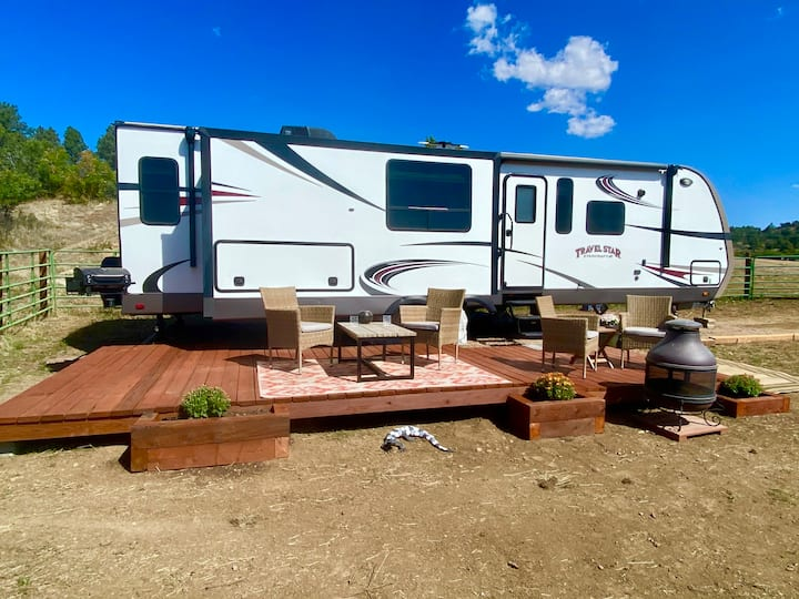 Spacious, comfortable RV & room to bring your toys
