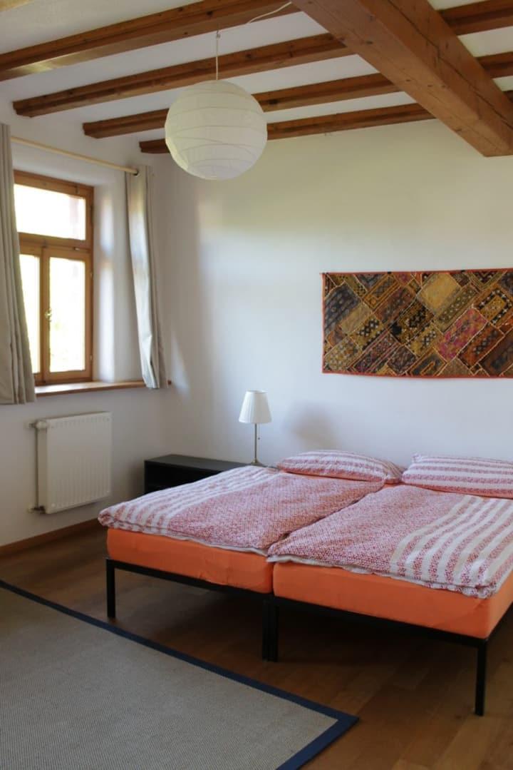 Quiet room in idyllic old farm house