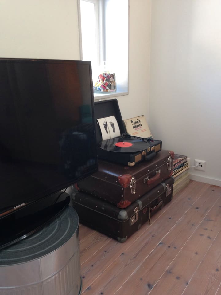 LP player and TV