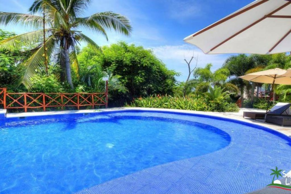 Largest pools in Sayulita.  The elevator takes you from the pools to your apartment