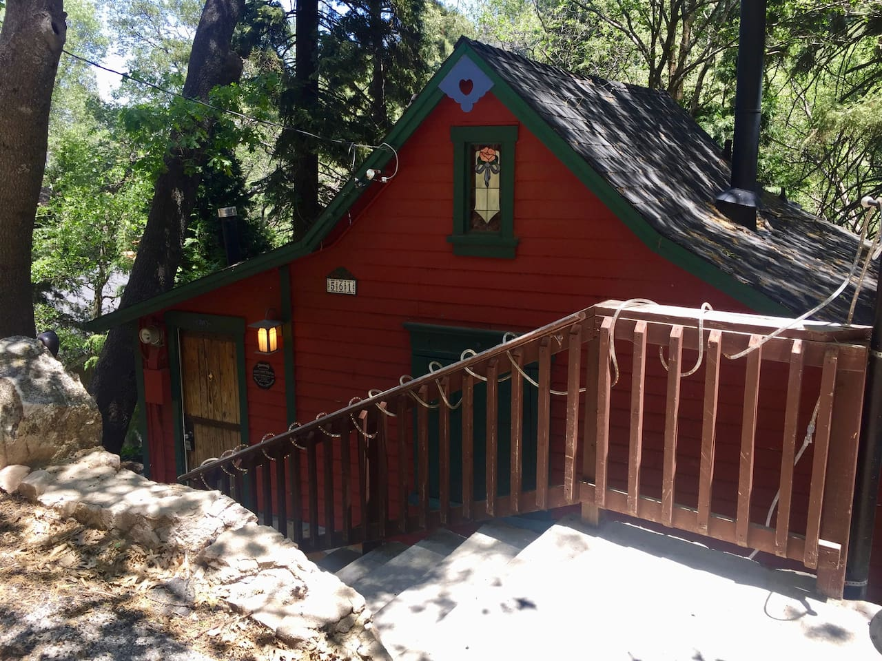 My beautiful cabin on a lovely day in Lake Arrowhead.
