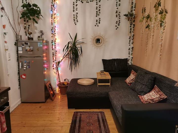 Gemütliche 1 Zimmerwohnung mit Wohnküche.