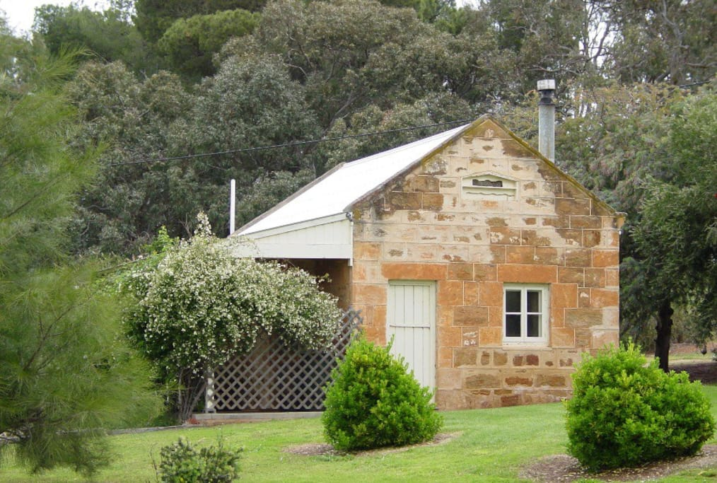 The cottage once accommodated the property's stallion, who was stabled separately from other horses on the property.