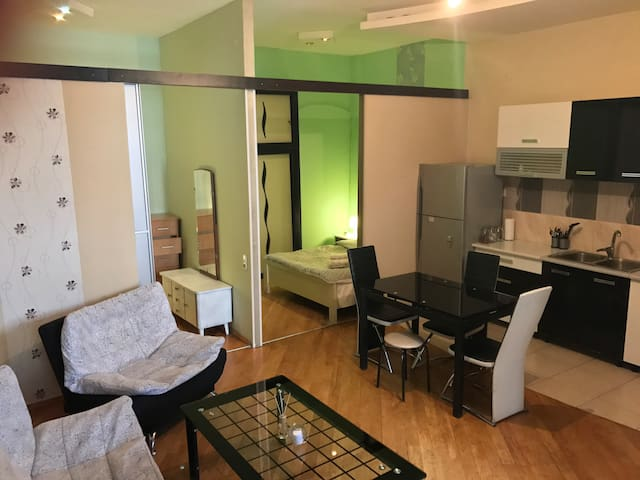 Common Space: living room, kitchenette