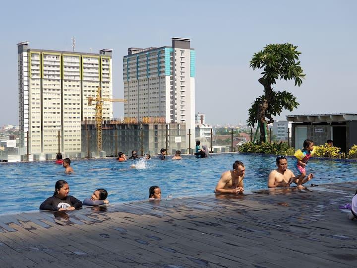 2BR-Corner, Syar'i Stay @32A-VidaView Makassar