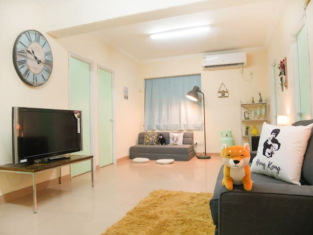 3 BR, 6 beds, Spacious Nordic Style in Mongkok ⚡️