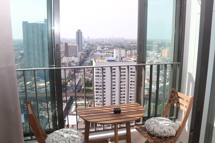 Cozy 2 bed with great views in Bangkok center - Bangkok - Apartment