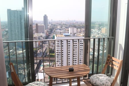 Cozy 2 bed with great views in Bangkok center - Bangkok - Byt