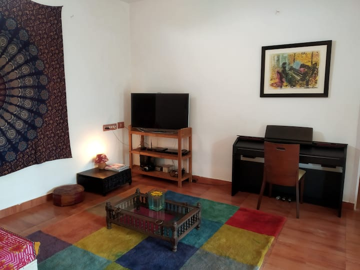 Sea View Appartement with Garden, Terrace and AC