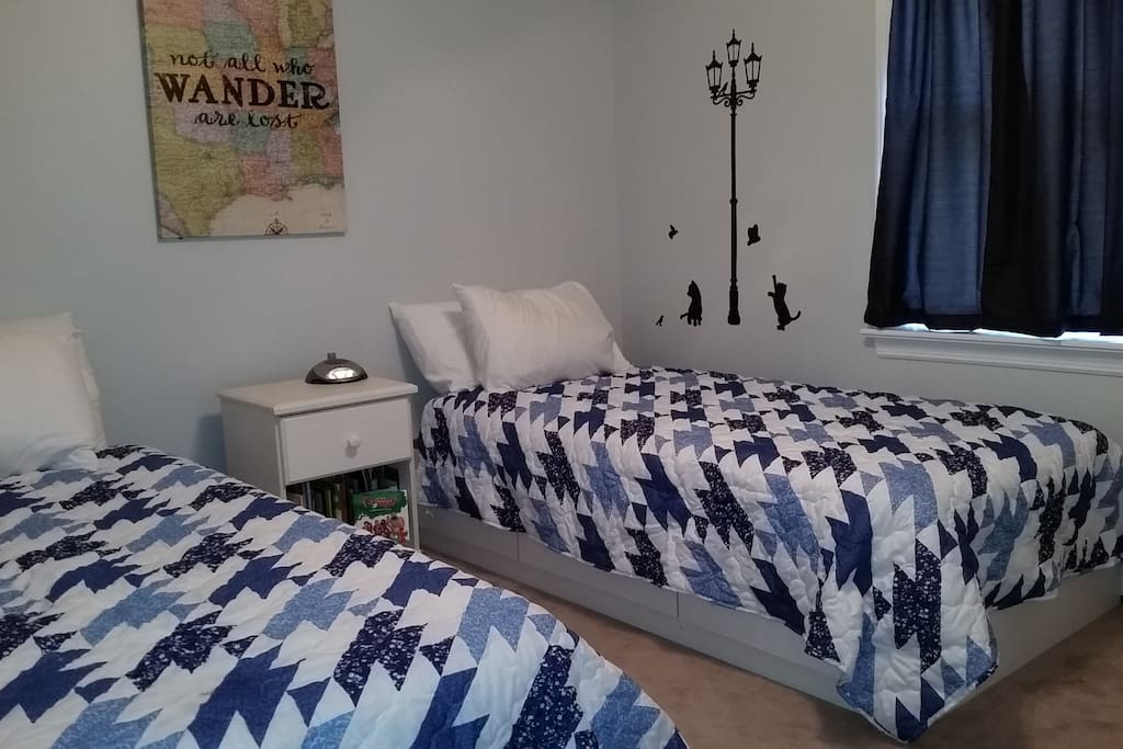 2 Single beds, closet space and drawers available
