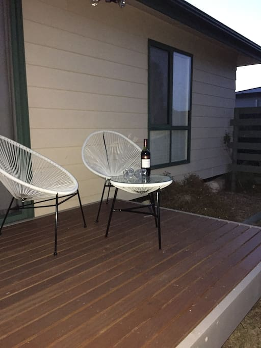 Enjoy a nice drink whilst enjoying the serenity of the outdoors sitting on the back deck.