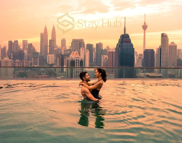 3Bedroom KLCC Instagrammable w Sky Pool 吉隆坡超大家庭公寓