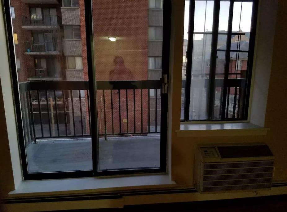 Shared porch/balcony