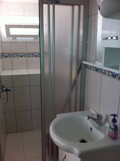 Bathroom with shower (we also have toilet not seen in the picture :) )