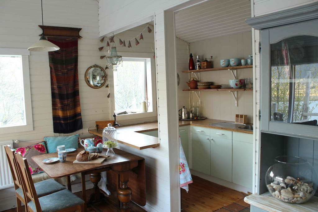 The Kitchen and dining table.