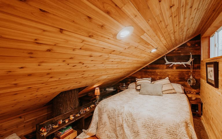 Bed up in loft