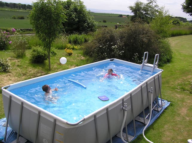 Heated swimming pool