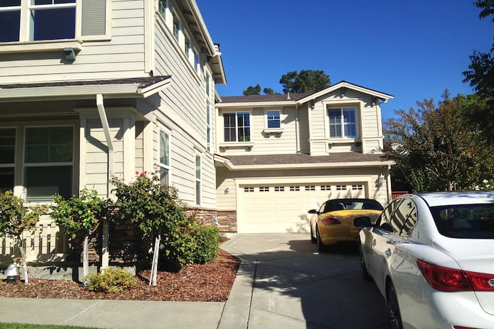 Newer Walnut Creek home with lovely garden