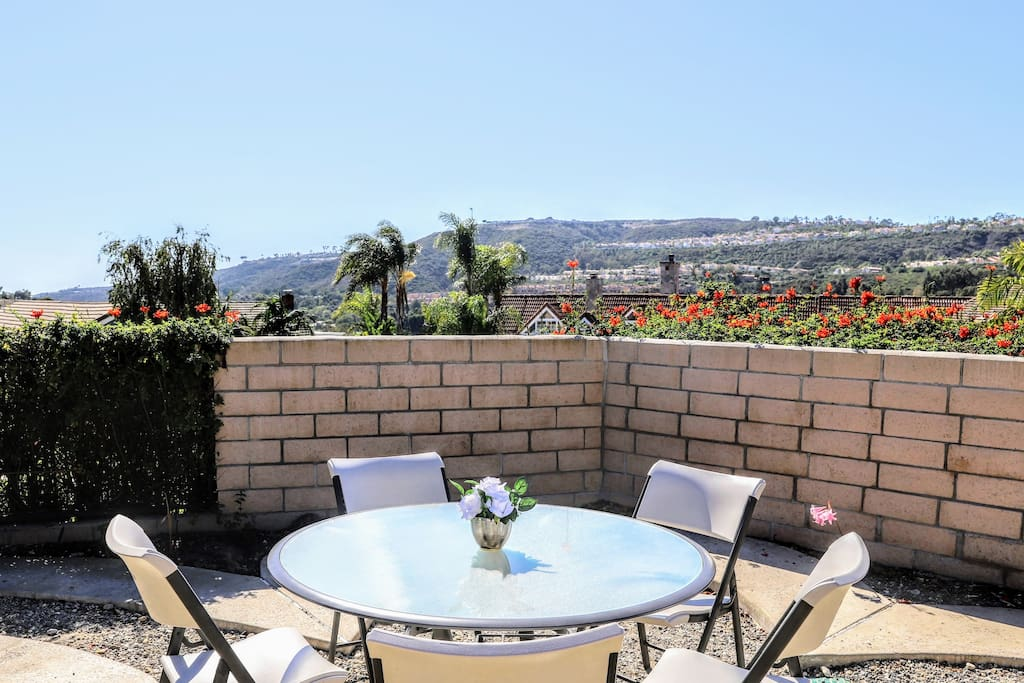 Enjoy the view from the private backyard, plus the BBQ and outdoor sitting area.