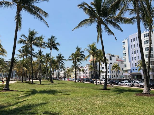 located in a resort style property in the heart of South Beach Miami, only 2 blocks away from the beach