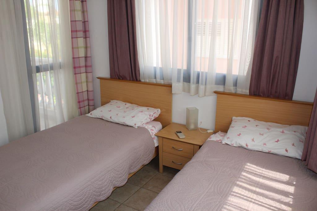 Bedroom 2 - two singles