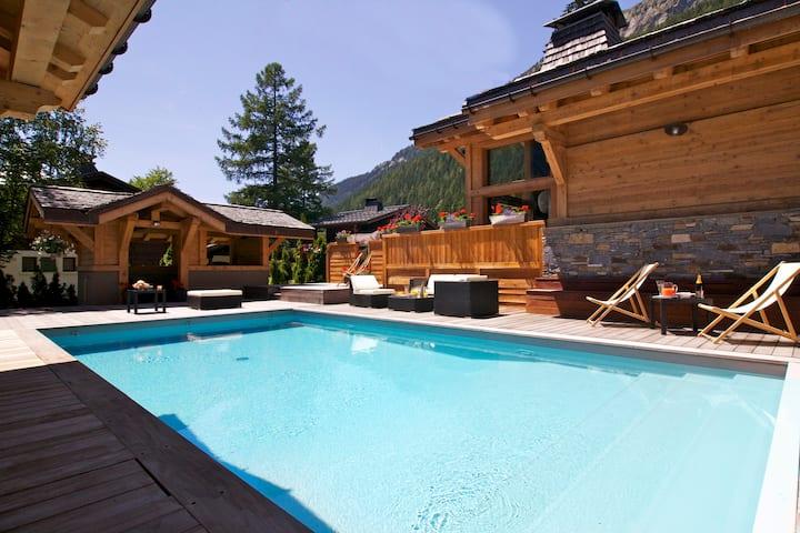 Chalet Granit 10 people - pool hot tub spa cinema
