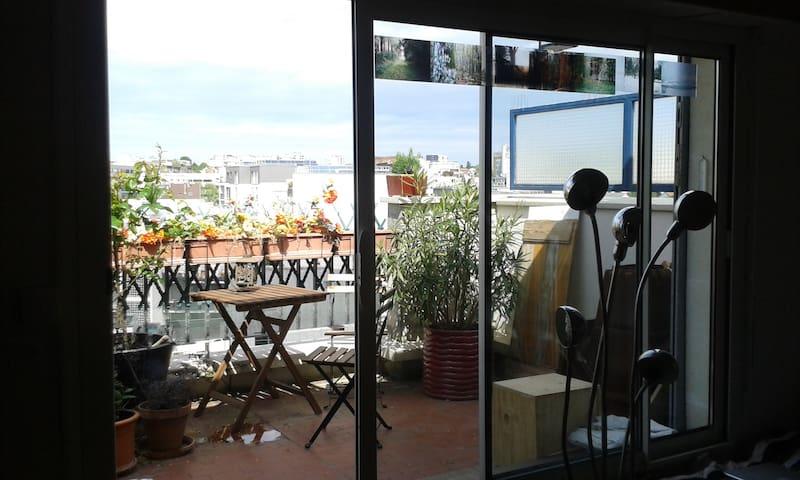 Appartment 54m2, terrasse et vues! - Montreuil - Appartamento