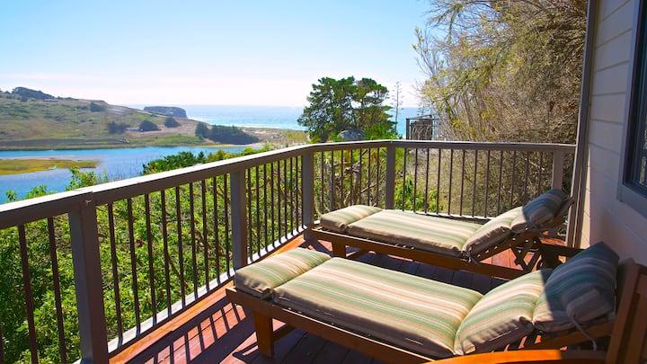 Hummingbird Cottage, River & Ocean Views