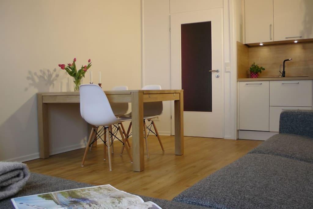 Schickes, komplett renoviertes Appartment für 1-2 Personen.