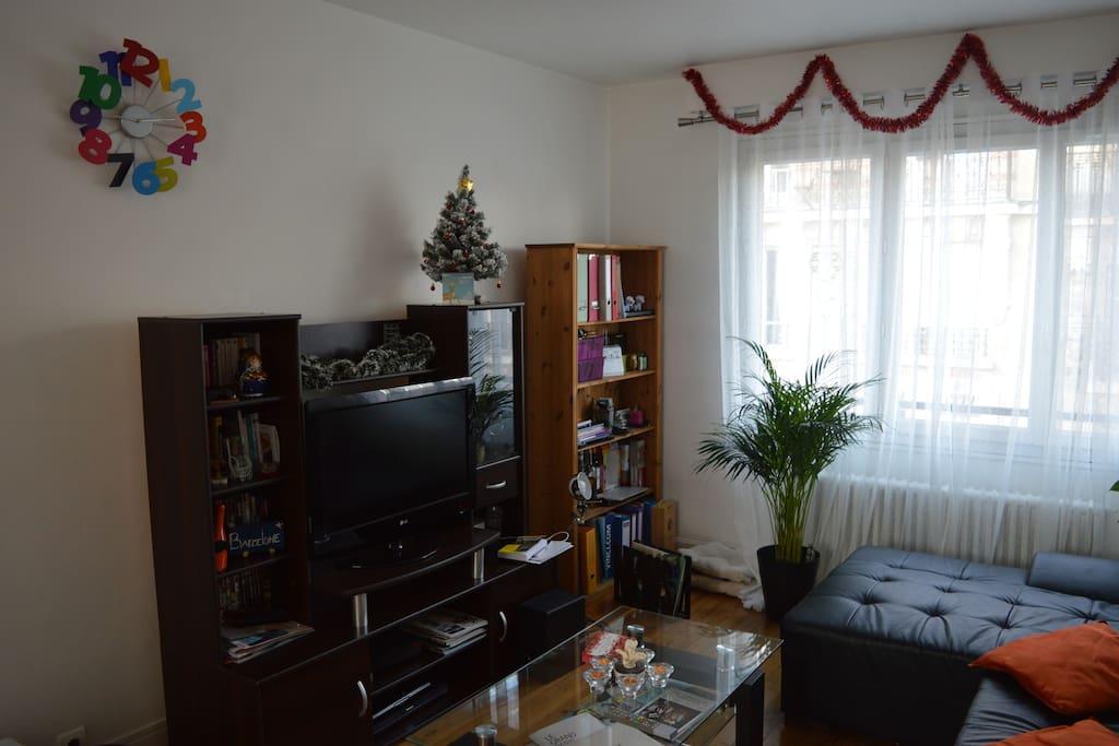 Salon avec tele abonné à Canal+ et beIN Sport