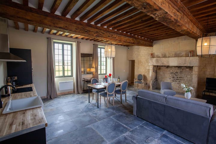 Logis **** 4/6 couchages Caen, Bayeux, Normandie