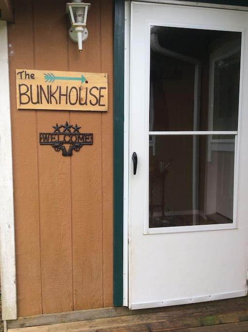Bunkhouse entrance