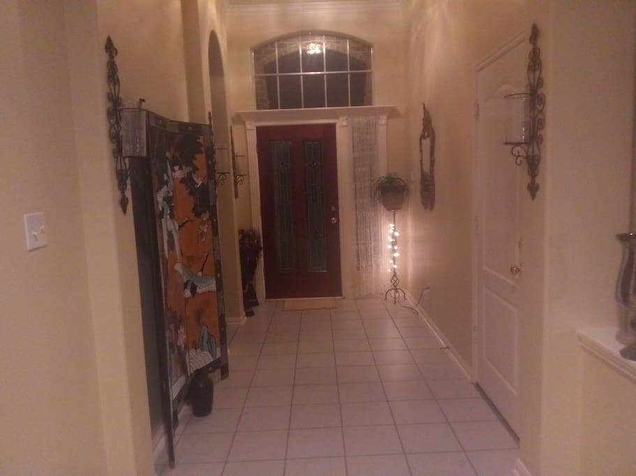 entry hallway of the home
