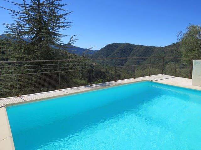 Les Figaires à L Escarene avec piscine