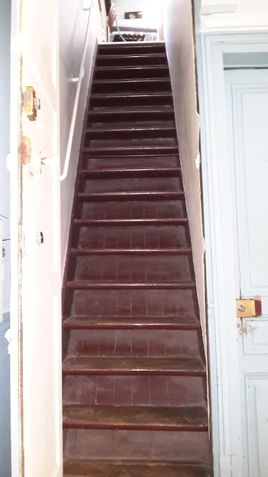 l'escalier pentu (slope stairs)
