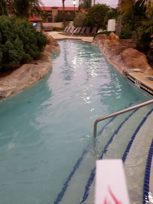lazy river and hot tub