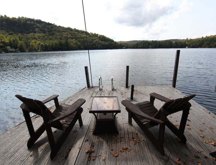 Deck on the lake with fantastic views.