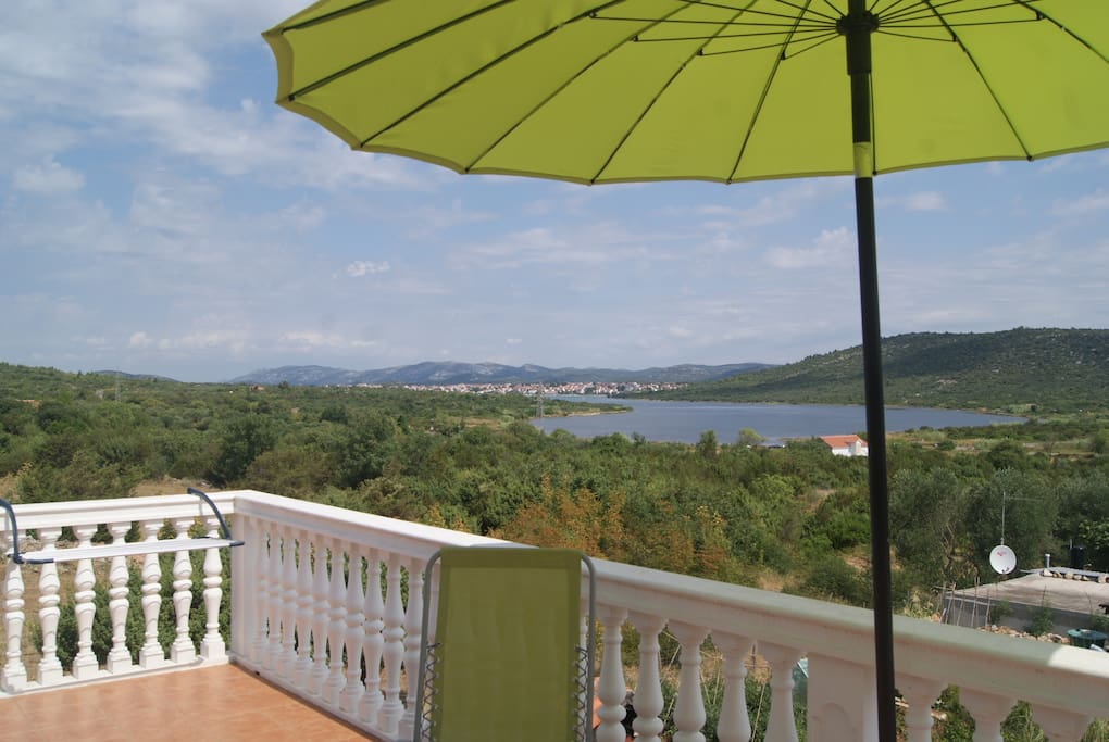 The view on Pirovac from the terrace