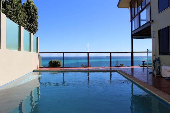Private inground Pool with stunning ocean views!