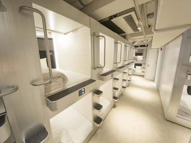 3mins->JR Akihabara Sta./Capsule hotel for female only (Wi-Fi)