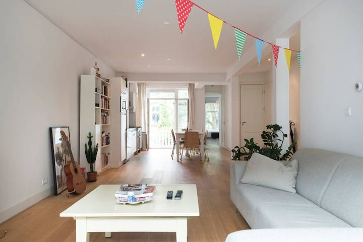 Room in a big and bright apartment.