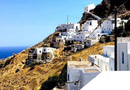 Sea View House in Mountain Village - Serifos - House